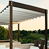 Coperture bar, Coperture ristorante: tenda modello nuvolla