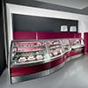 Vendita di vetrine per la gelateria e la pasticceria