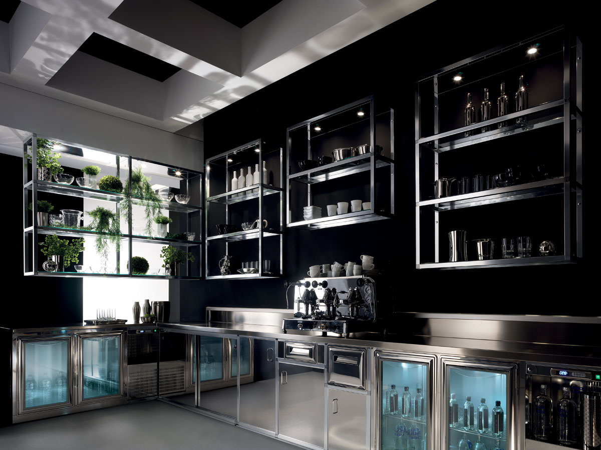 Bancone In Legno Ikea : Banco bar alukuadro con struttura tubolare di alluminio degart
