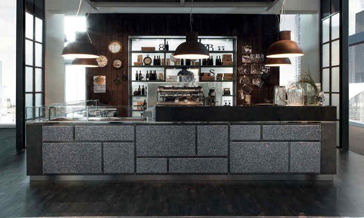 Banco bar garage struttura in acciaio refrigerazione for Banco bar moderno