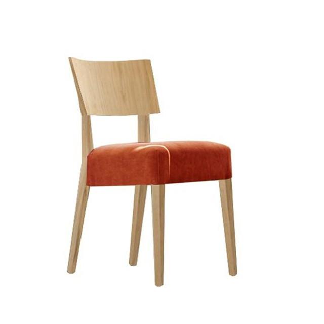 Sedia ristorante modello Elle, con sedile imbottito   Degart