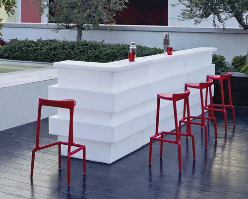 Sgabello bar modello happy robusto resistente e leggero degart