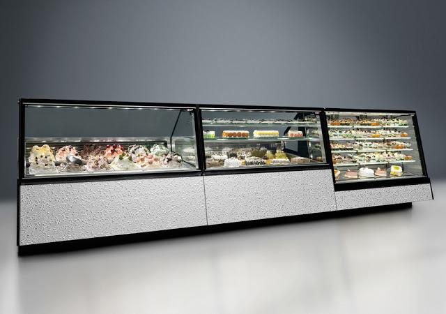 Vetrina pasticceria mya con refrigerazione a doppio flusso for Arredamento pasticceria prezzi
