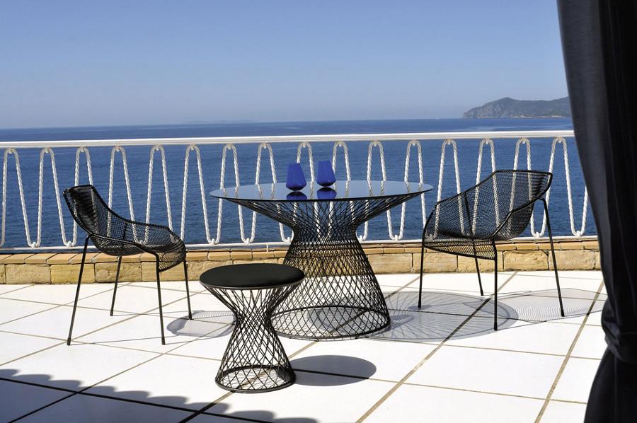 Tavolo Basamento Intrecciato Metallo Connor : Tavolo ristorante heaven base in acciaio con piano