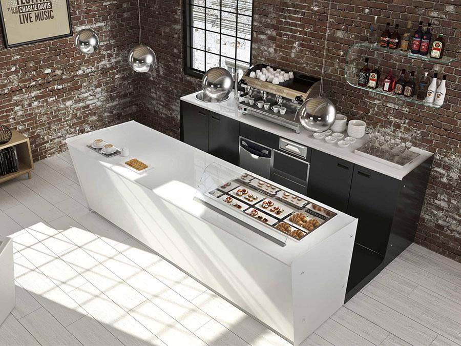Fabuleux Offerta Banco bar completo di refrigerazione e basamento macchina  QV99