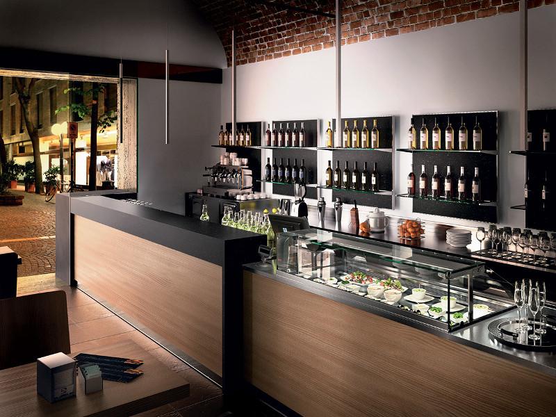 Banco bar 031 con bancalina bianco stardust oppure nero for Ritacca arredo bar