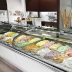 Vetrina pasticceria, gelateria Lunette