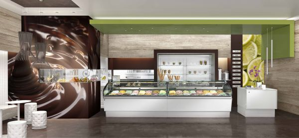 Vetrina pasticceria gelateria lunette disponibile in 3 for Ifi arredamenti bar