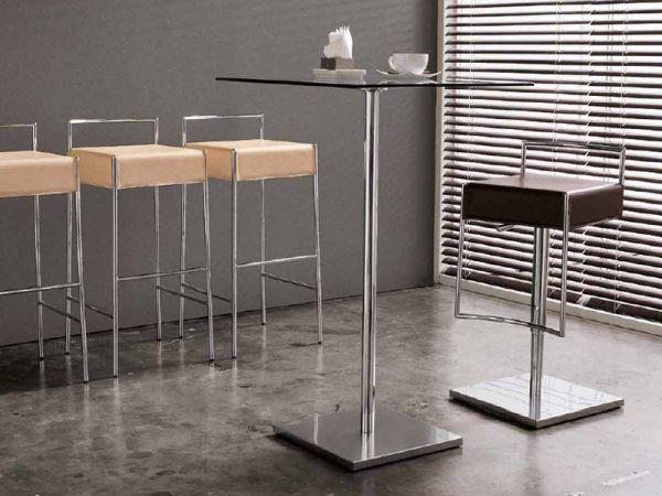 Sgabello modello mark ad altezza fissa con struttura e poggiapiedi in metallo degart - Sgabello design cucina ...